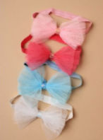 Child size stretch bow bandeau (Code 3938)